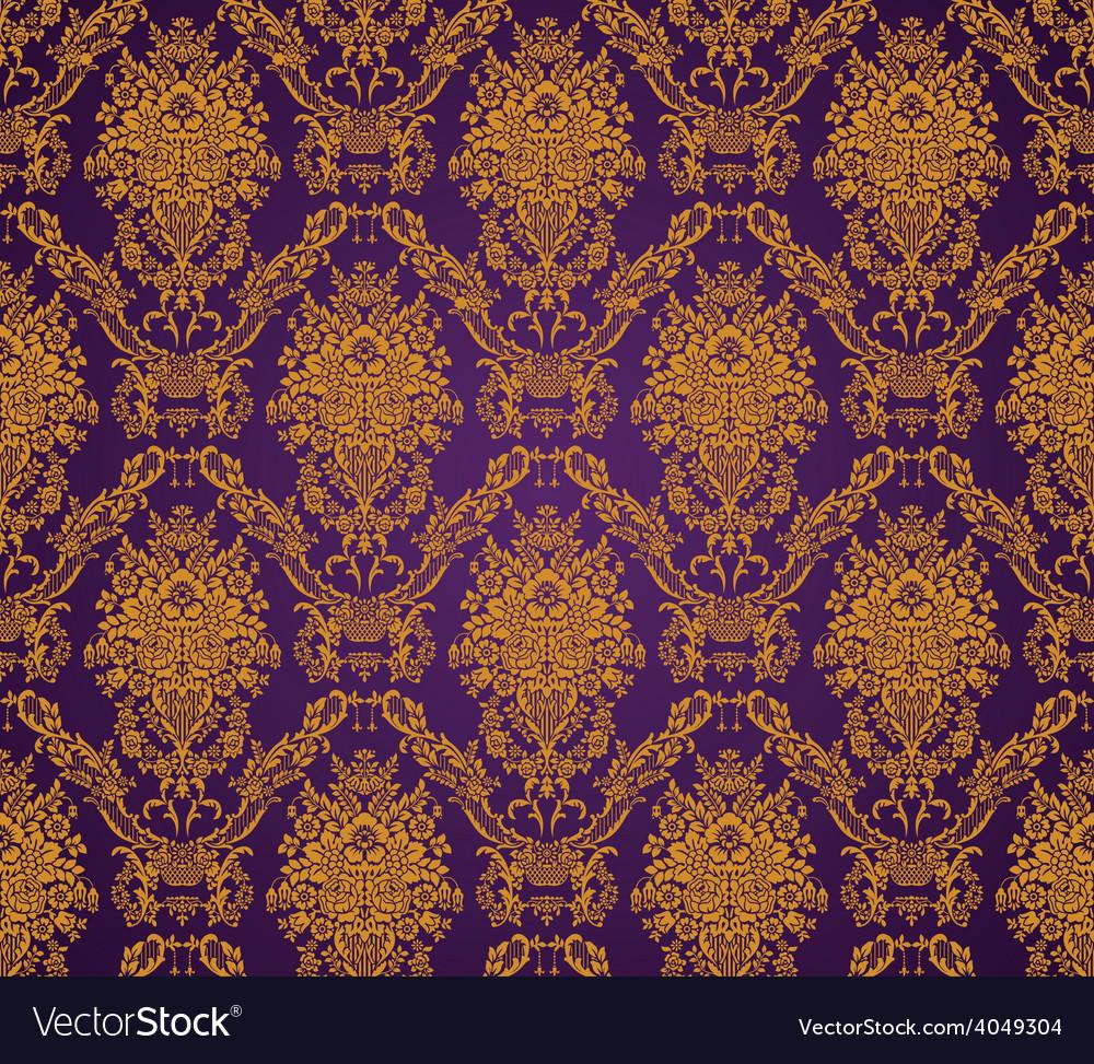 Damask seamless floral pattern royal wallpaper vector | Price: 1 Credit (USD $1)