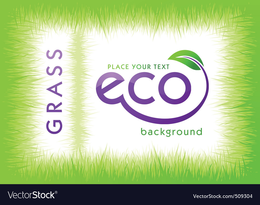 Eco green grass background vector | Price: 1 Credit (USD $1)