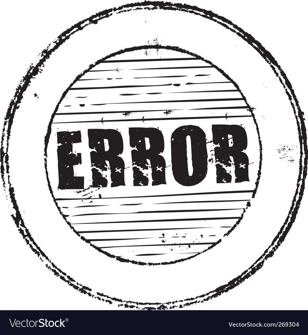 Error stamp vector | Price: 1 Credit (USD $1)