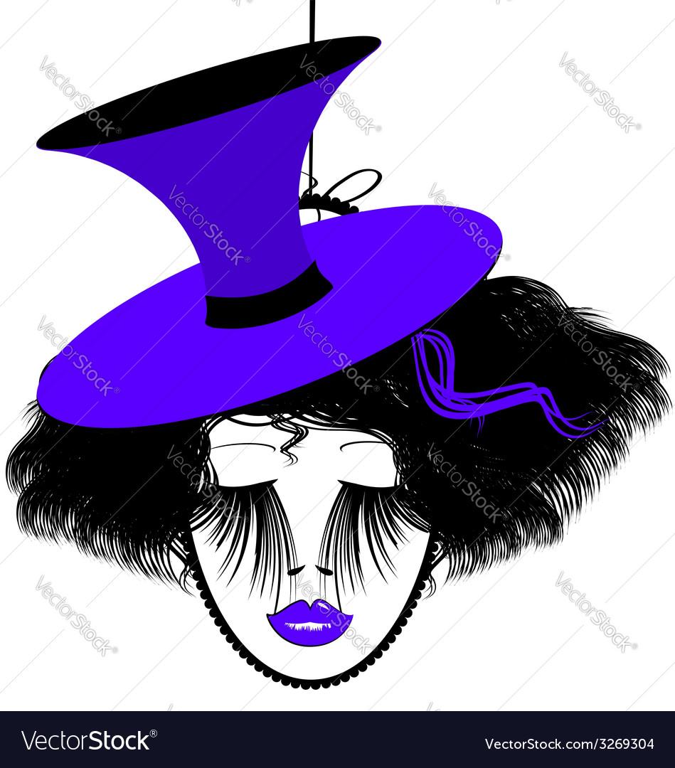Image of black-purple dame vector | Price: 1 Credit (USD $1)