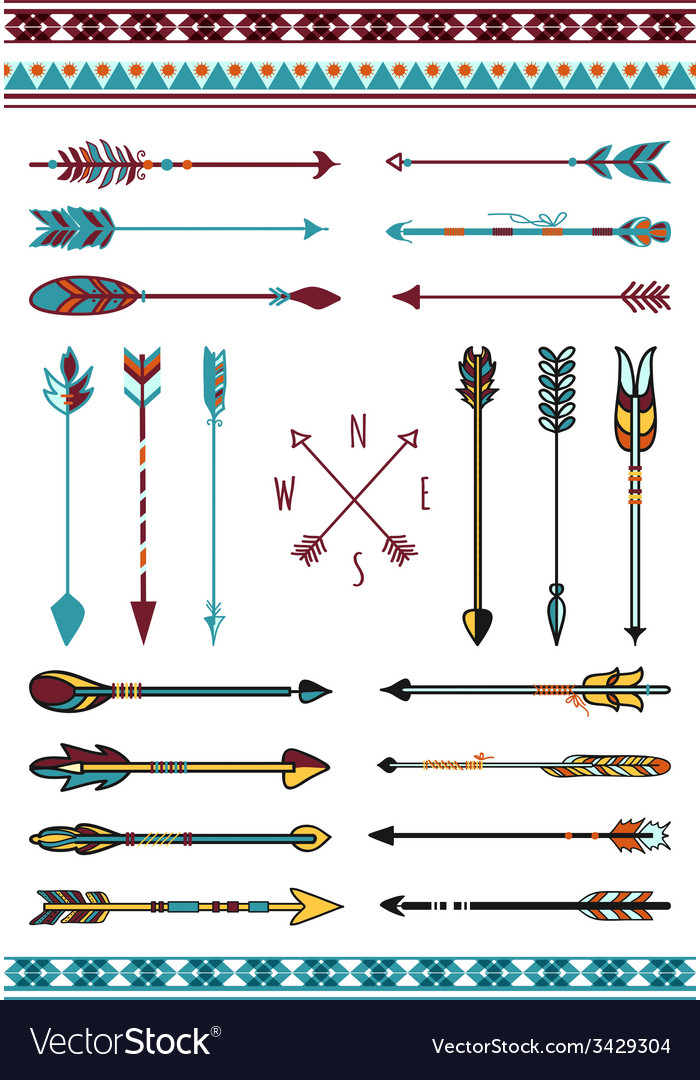 Indian arrows for hipster decor vector | Price: 1 Credit (USD $1)