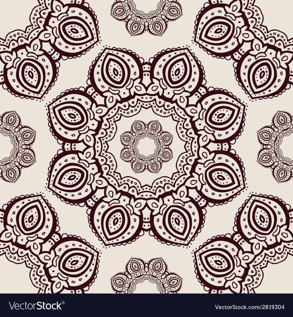 Lace hand drawn seamless pattern vector | Price: 1 Credit (USD $1)