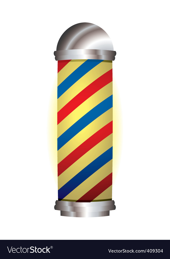 Red and blue barbers pole vector | Price: 1 Credit (USD $1)