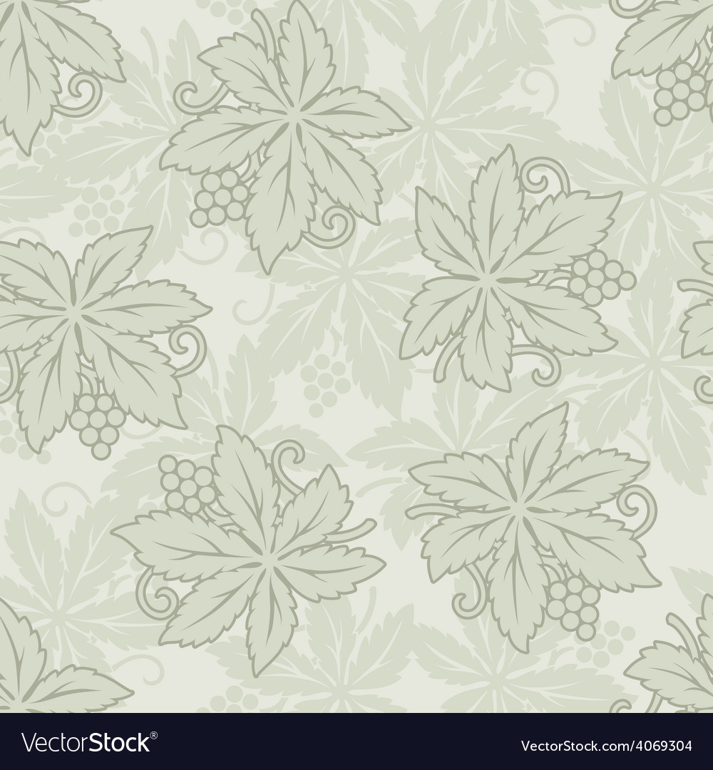 Vintage seamless grapes and leaves vector | Price: 1 Credit (USD $1)