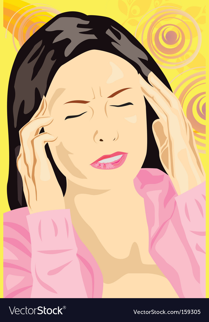 Headache vector | Price: 1 Credit (USD $1)