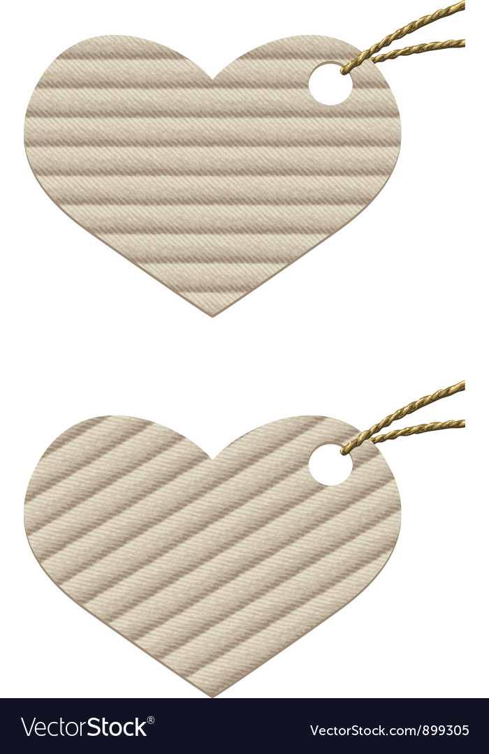 Heart cardboard tag with rope vector | Price: 1 Credit (USD $1)
