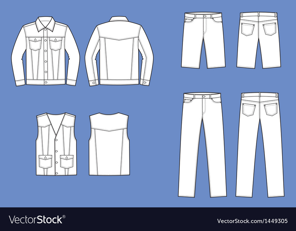 Jeans clothes vector | Price: 1 Credit (USD $1)