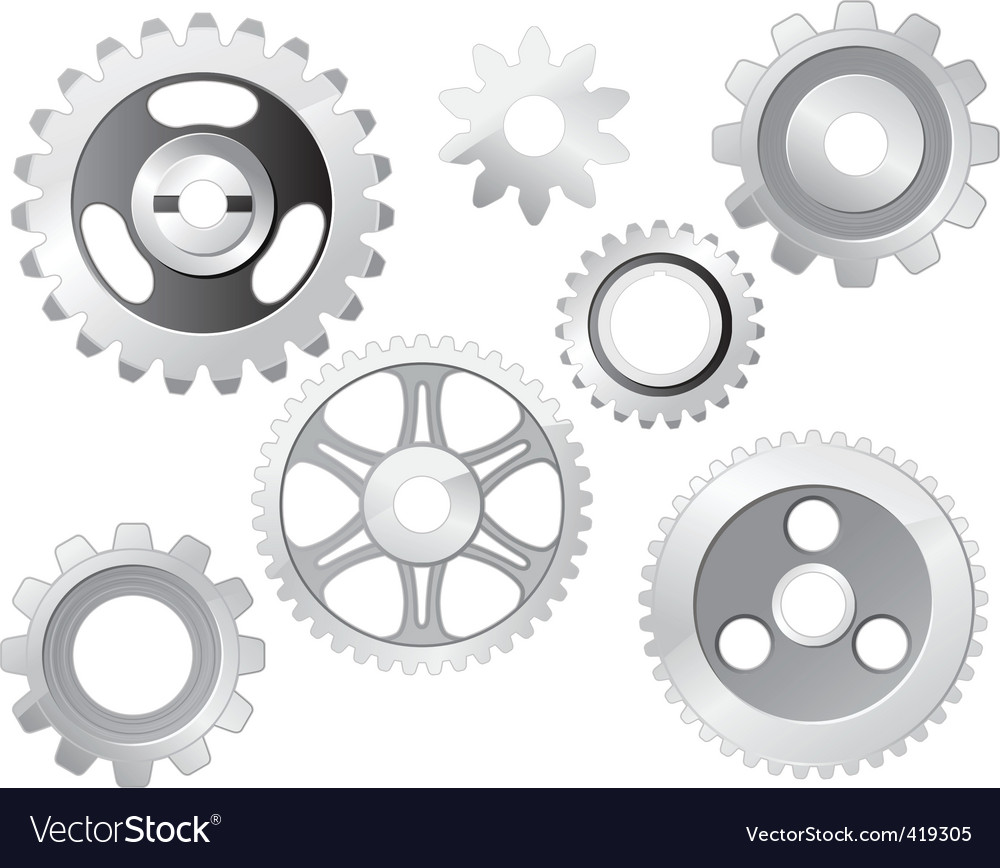 Machine gear wheel vector | Price: 1 Credit (USD $1)