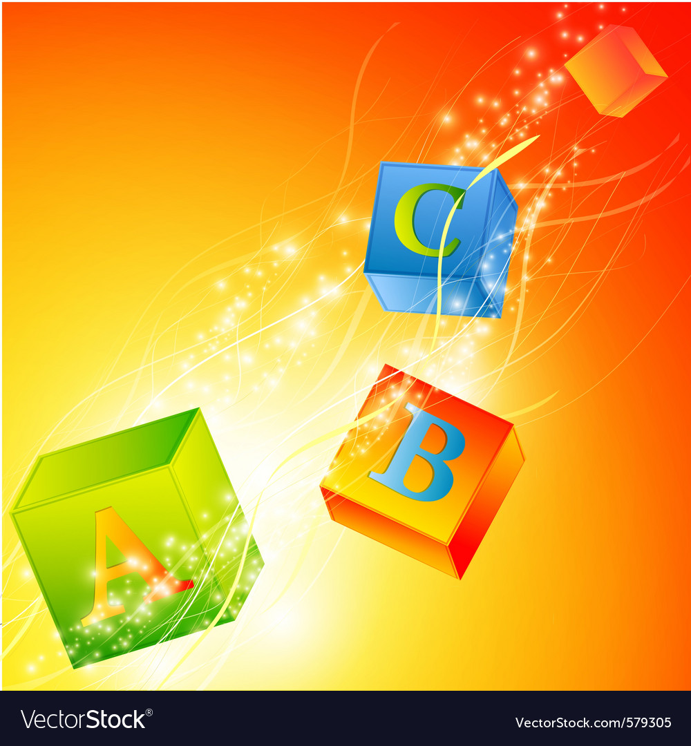 Multicolored abc cubes vector | Price: 1 Credit (USD $1)