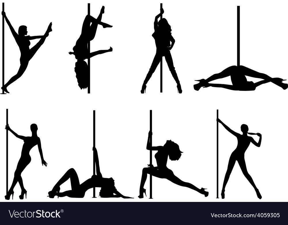 Pole dance women vector | Price: 1 Credit (USD $1)