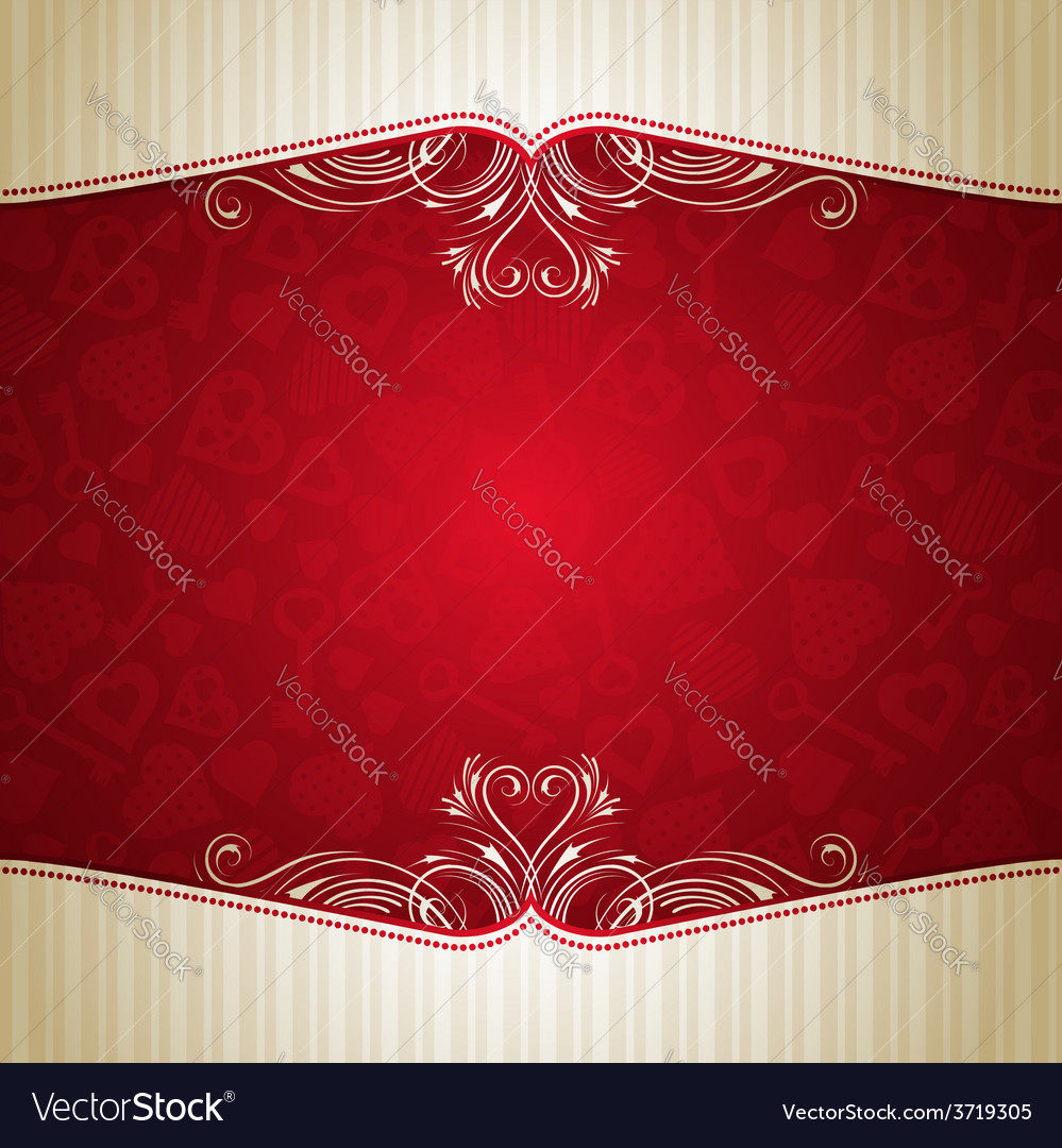 Red valentine background with many hearts vector | Price: 1 Credit (USD $1)