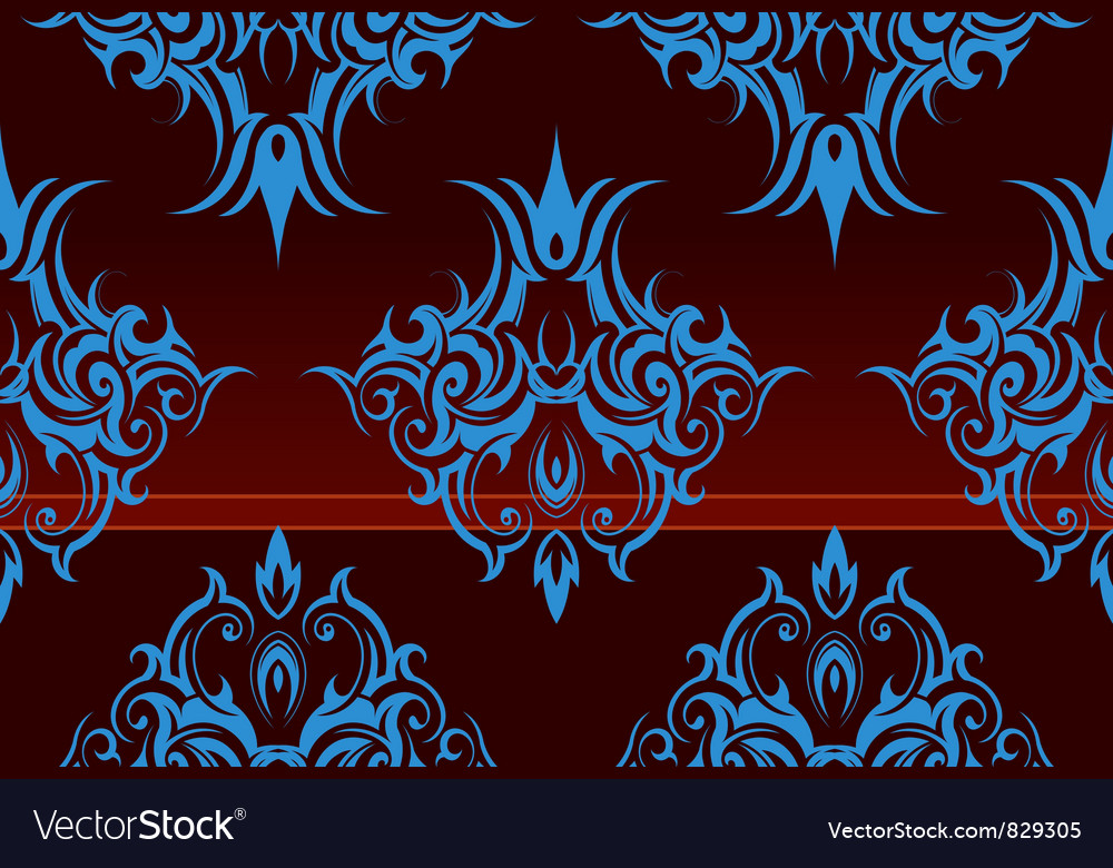Repeating swirl wallpaper vector | Price: 1 Credit (USD $1)
