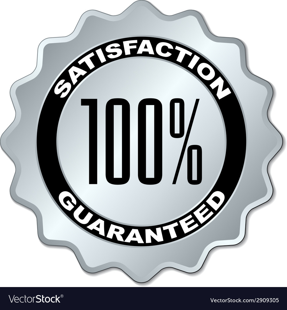 Satisfaction guaranteed label vector | Price: 1 Credit (USD $1)