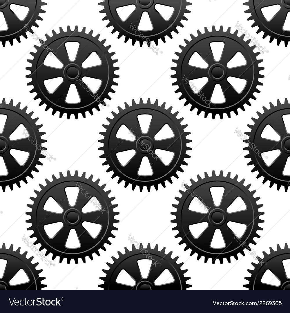 Seamless gears pattern vector | Price: 1 Credit (USD $1)