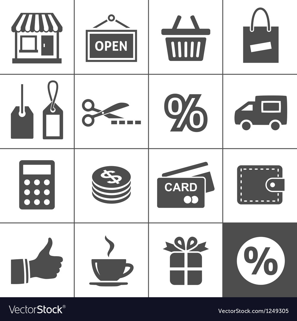Shopping icons set - simplus series vector | Price: 1 Credit (USD $1)
