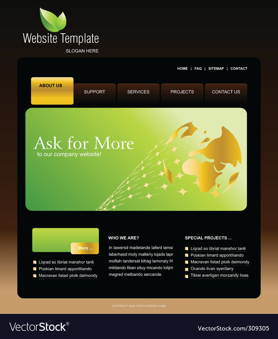Website template vector | Price: 3 Credit (USD $3)