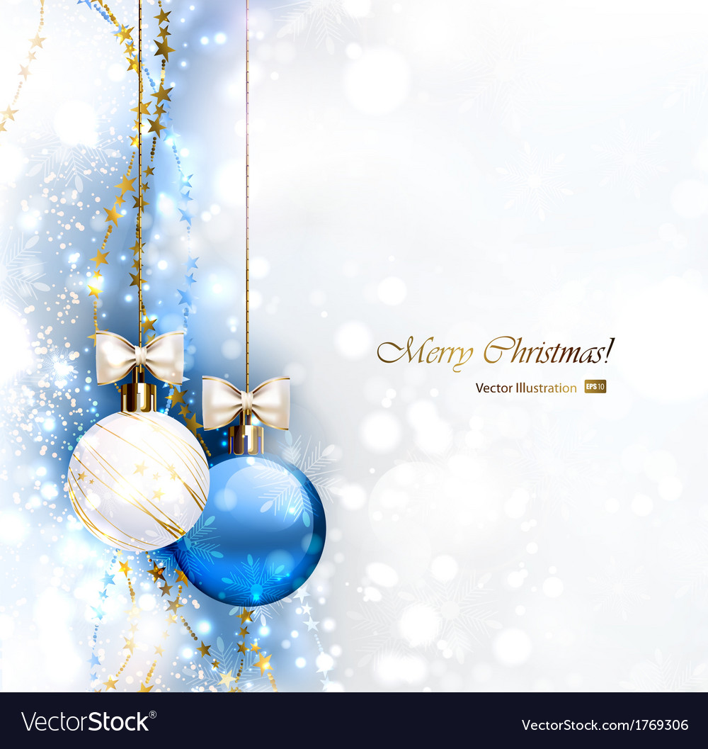 Blue christmas vector | Price: 1 Credit (USD $1)