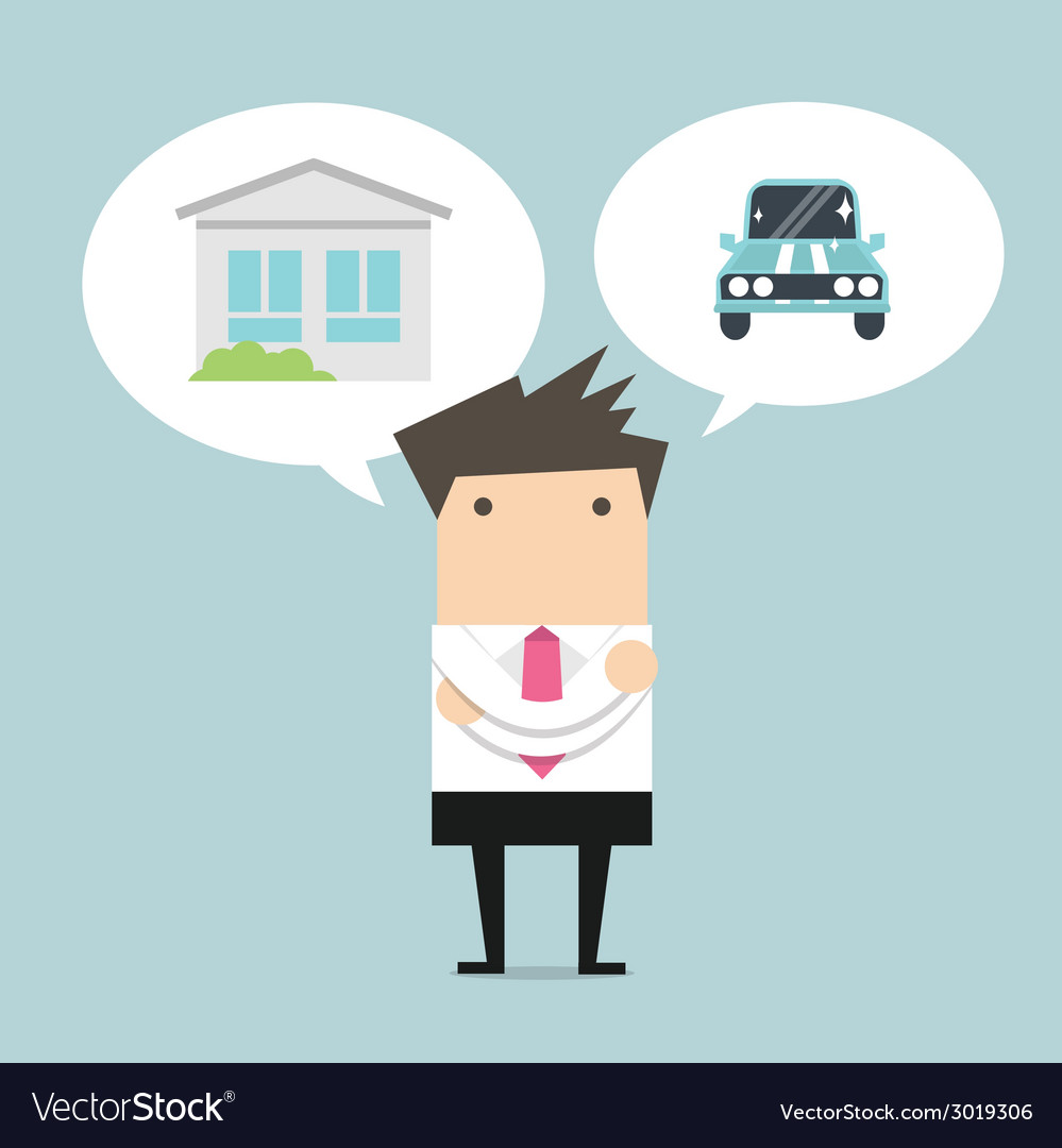 Businessman dream vector | Price: 1 Credit (USD $1)