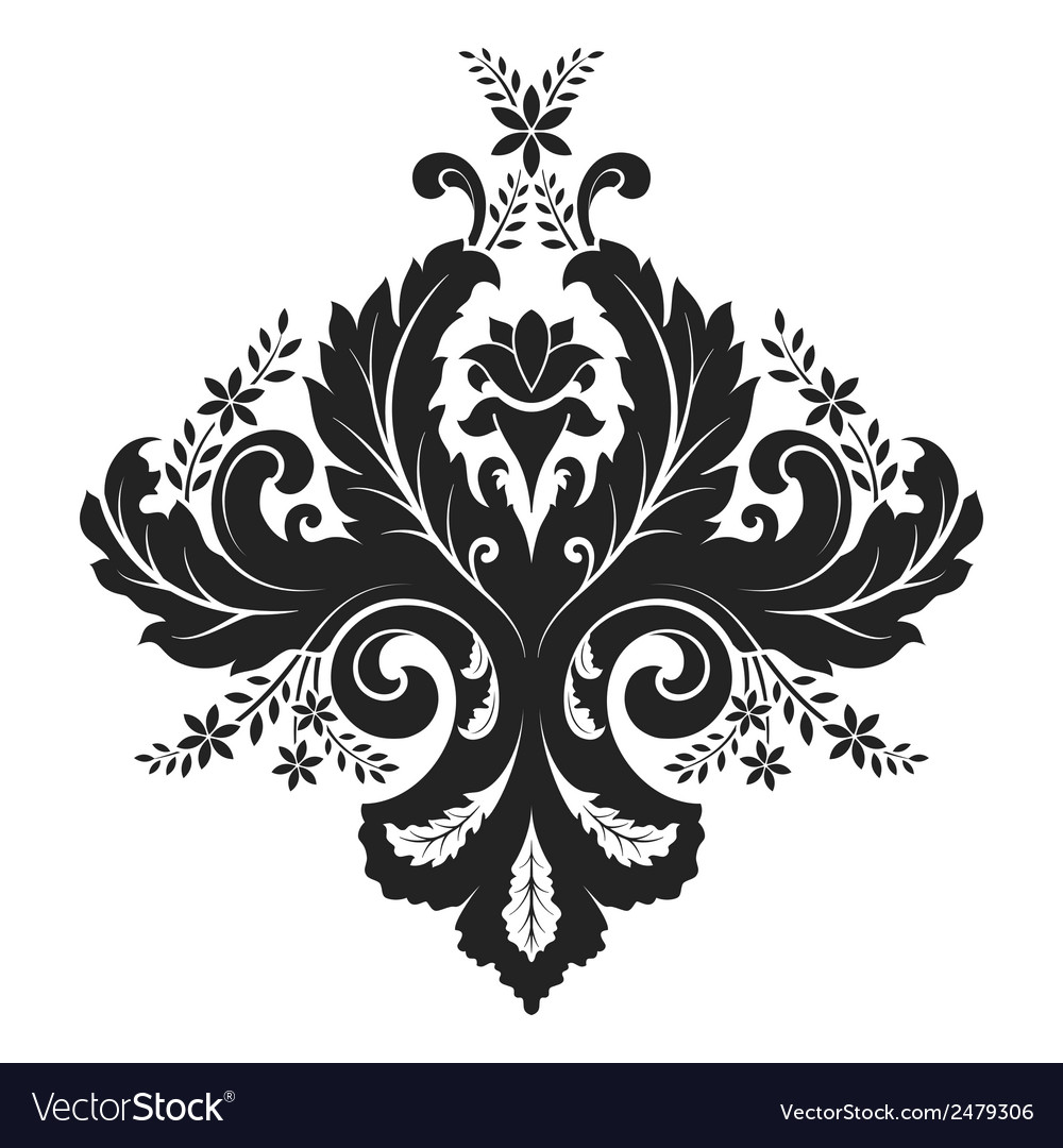Damask ornament vector | Price: 1 Credit (USD $1)