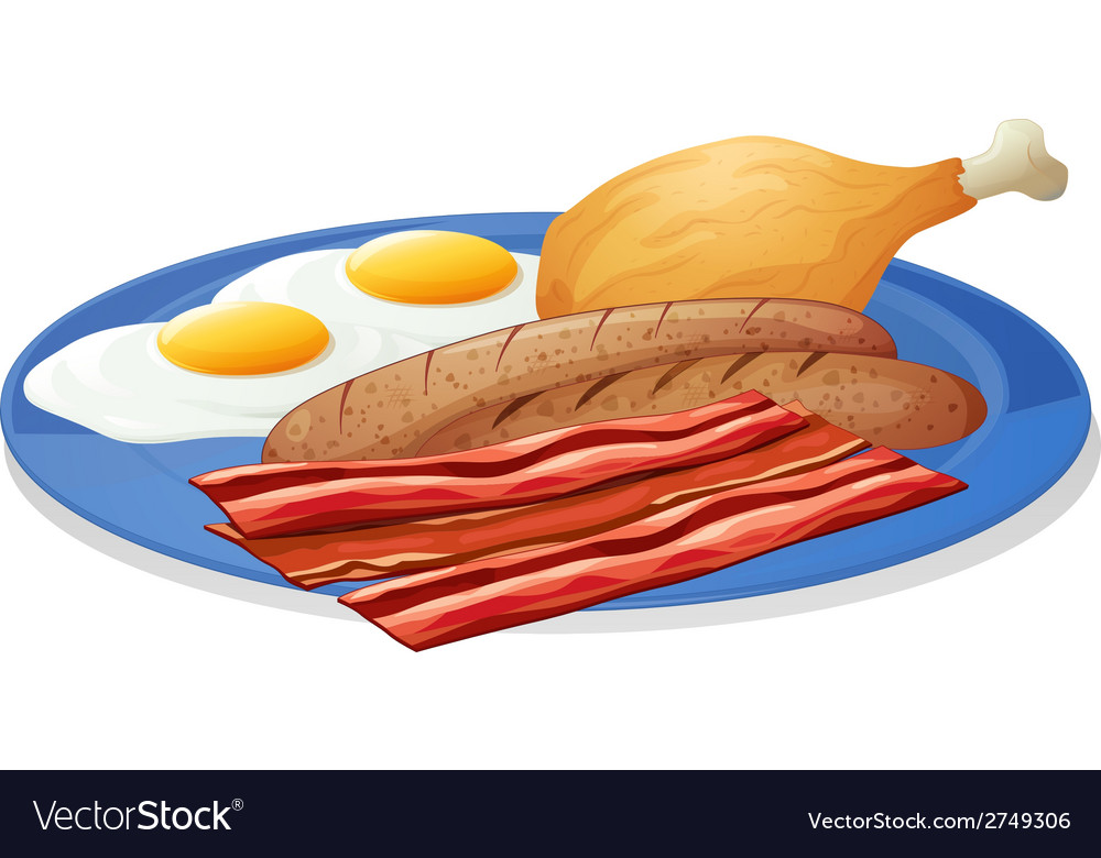 Eggs and bacons vector | Price: 1 Credit (USD $1)