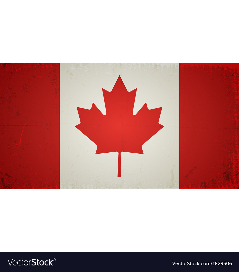Grunge flags - canada vector | Price: 1 Credit (USD $1)