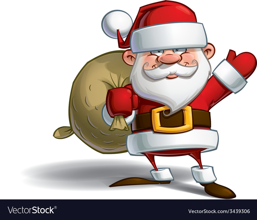Happy santa sack of gifts vector | Price: 3 Credit (USD $3)