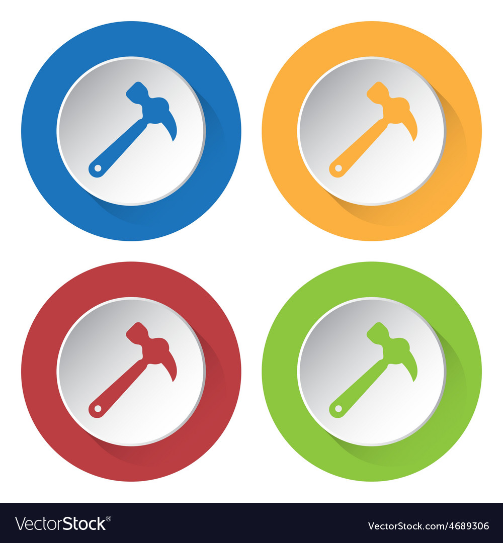 Set of four icons - claw hammer vector | Price: 1 Credit (USD $1)