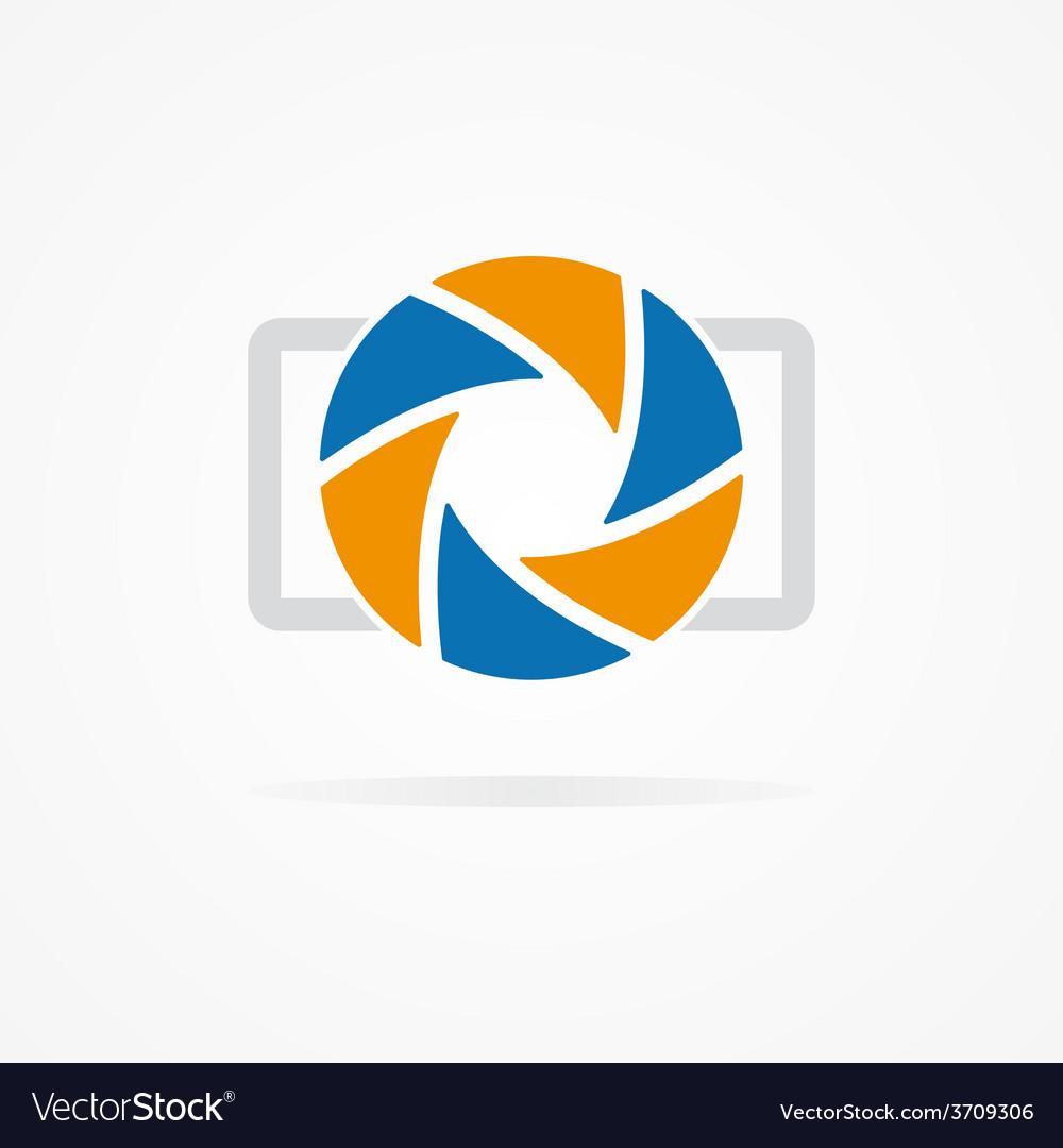 Simple camera logo vector | Price: 1 Credit (USD $1)