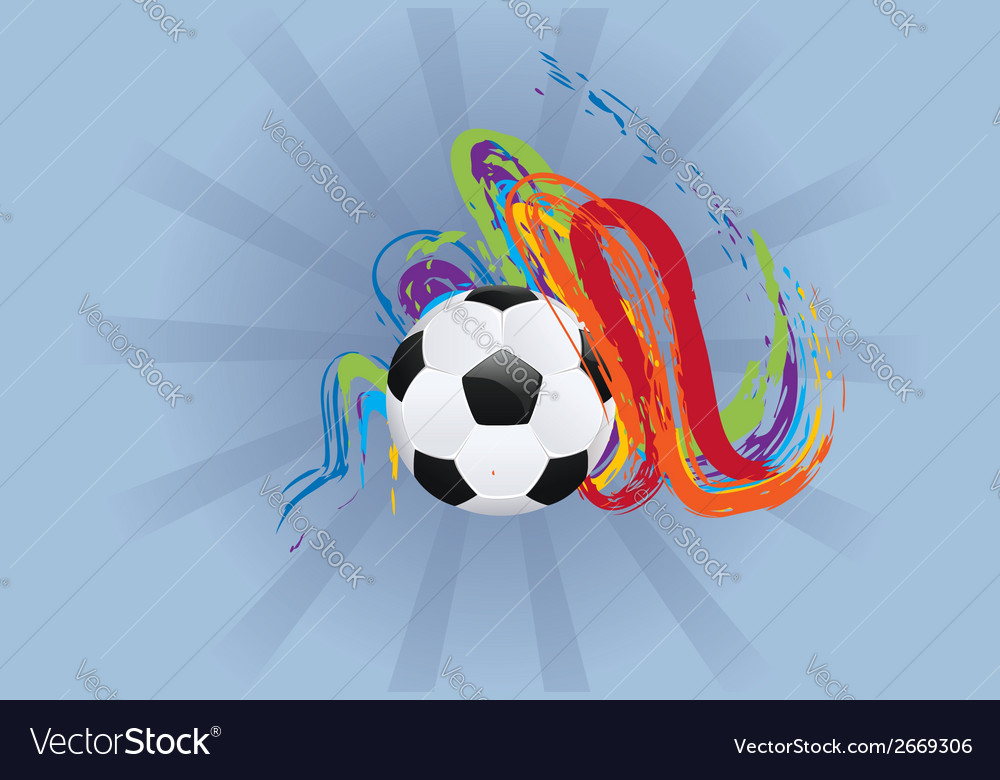 Soccer ball with brush strokes2 vector | Price: 1 Credit (USD $1)