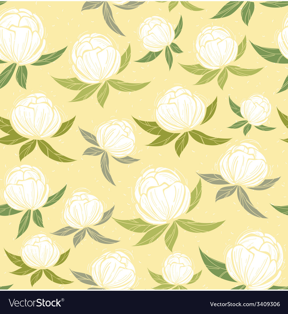 Spring wildflowers seamless pattern vector | Price: 1 Credit (USD $1)