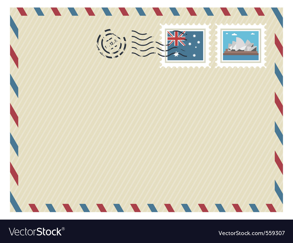Australia airmail vector | Price: 3 Credit (USD $3)