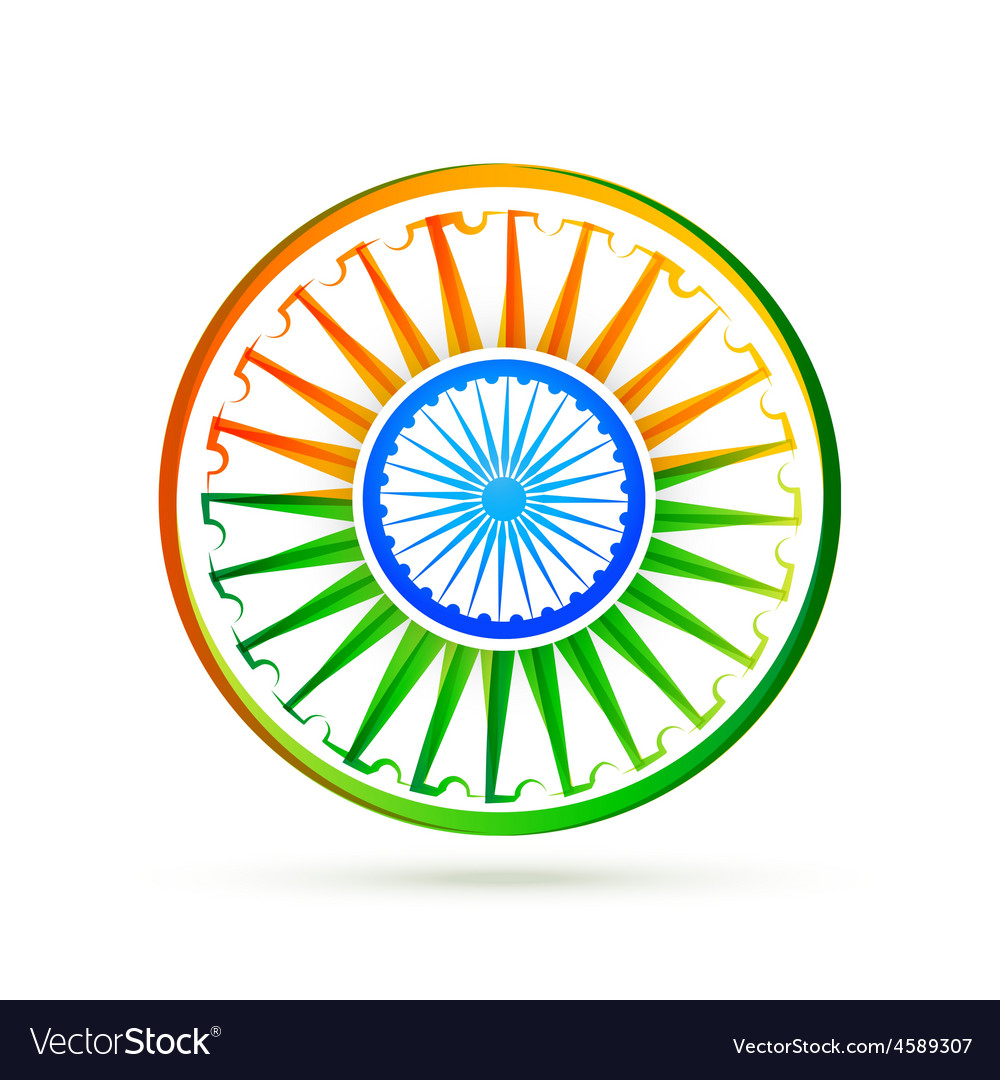 Beautiful creative indian flag design vector | Price: 1 Credit (USD $1)