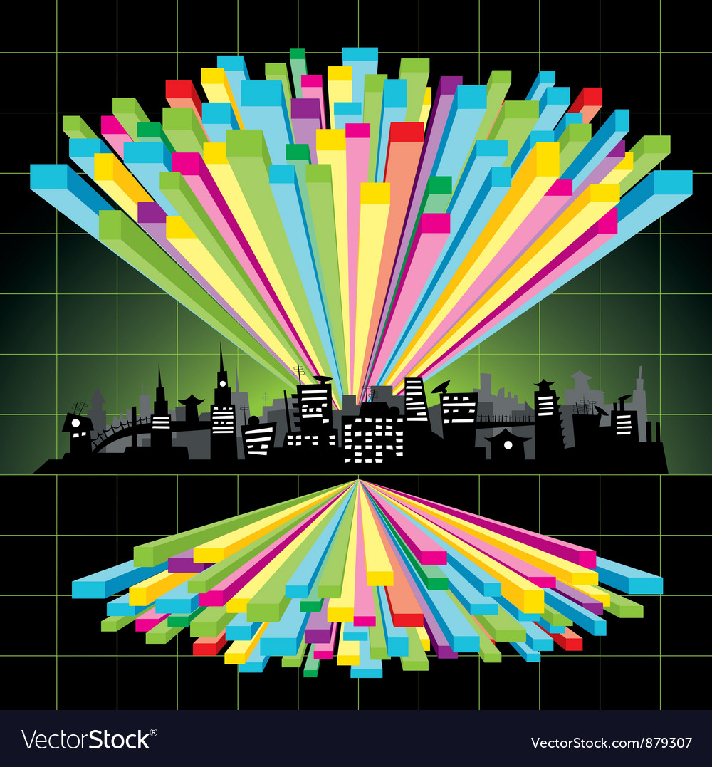 Diagram city vector | Price: 1 Credit (USD $1)