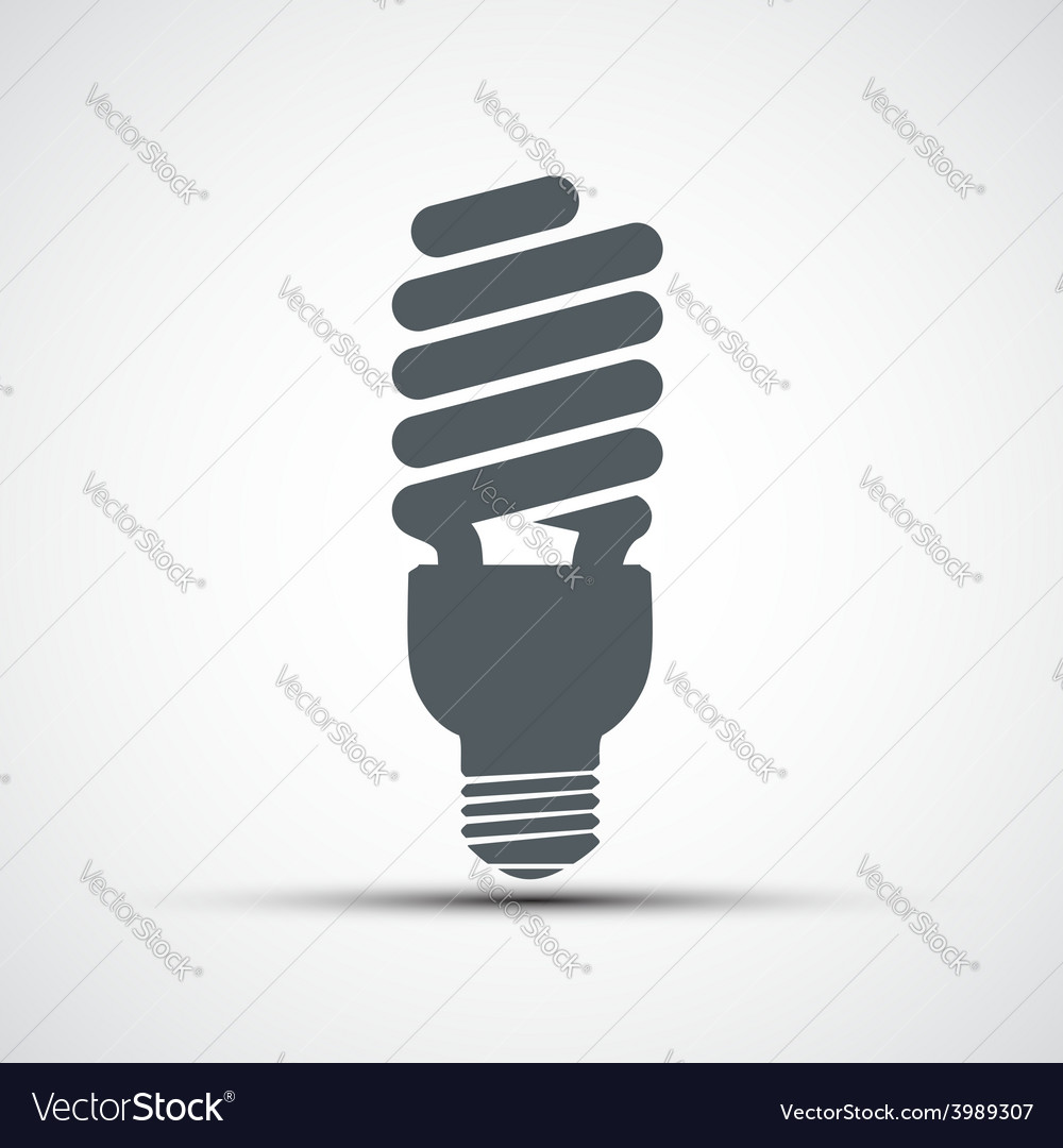 Energy saving light bulb icon vector | Price: 1 Credit (USD $1)