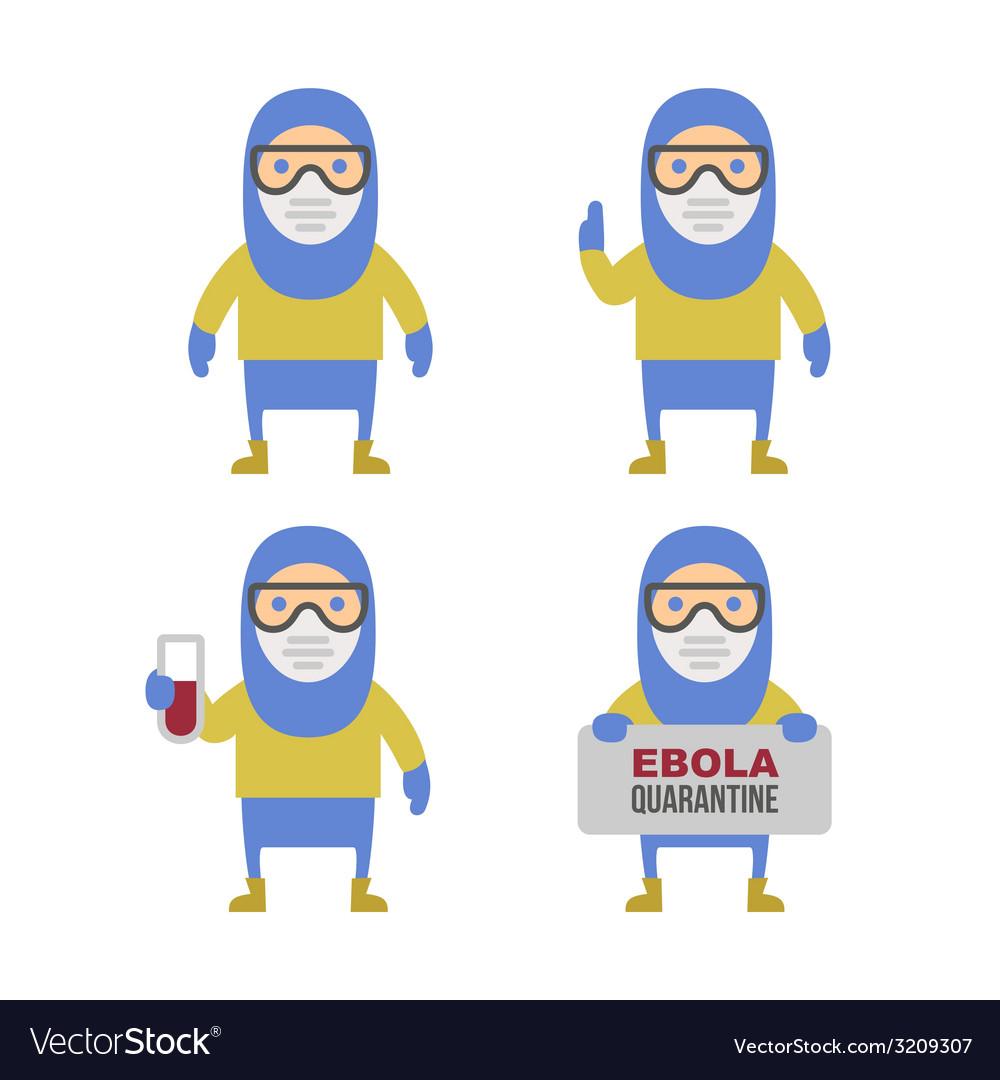 Scientist in protective yellow gear cartoon style vector | Price: 1 Credit (USD $1)