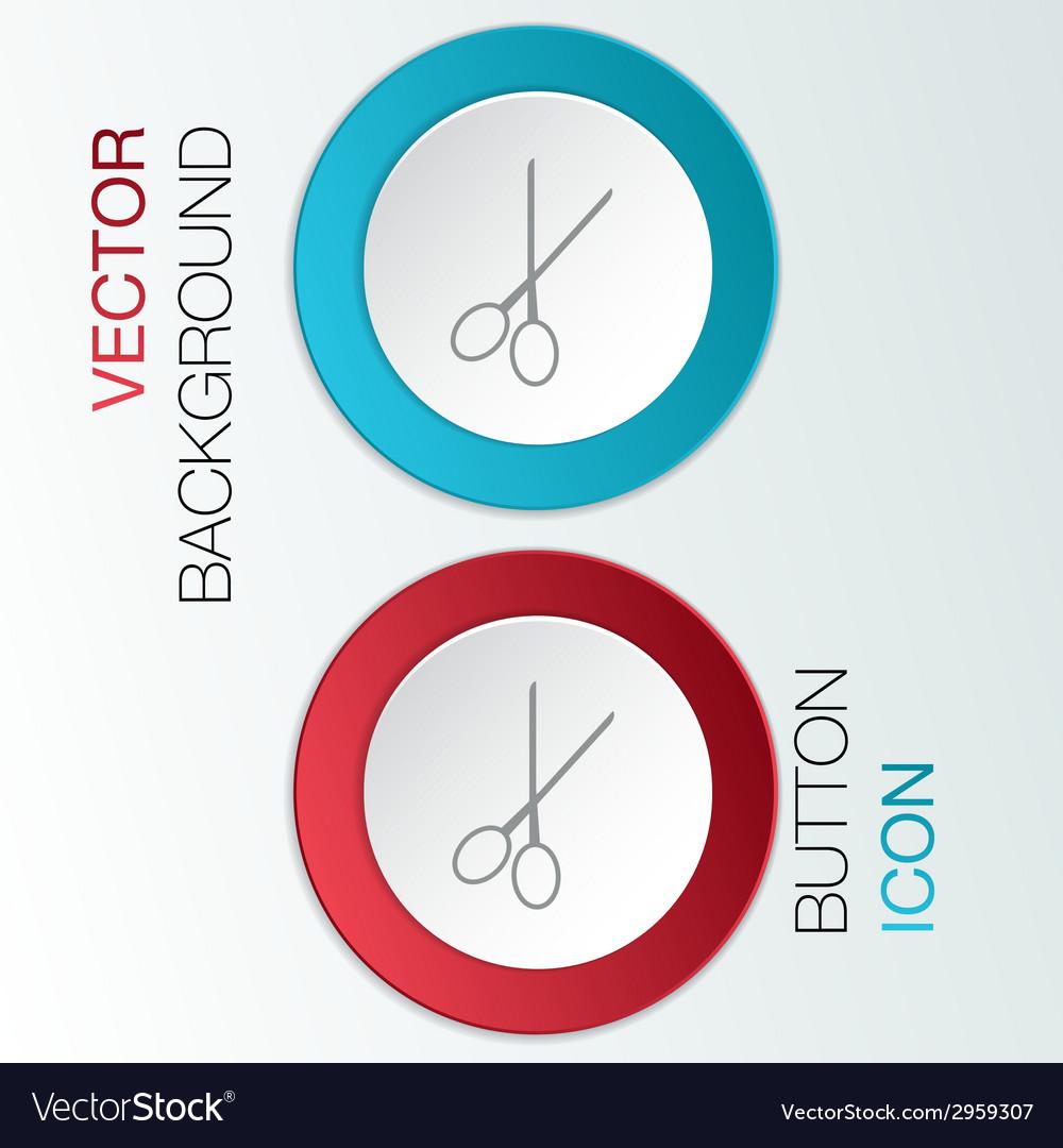 Scissors barbershop vector | Price: 1 Credit (USD $1)
