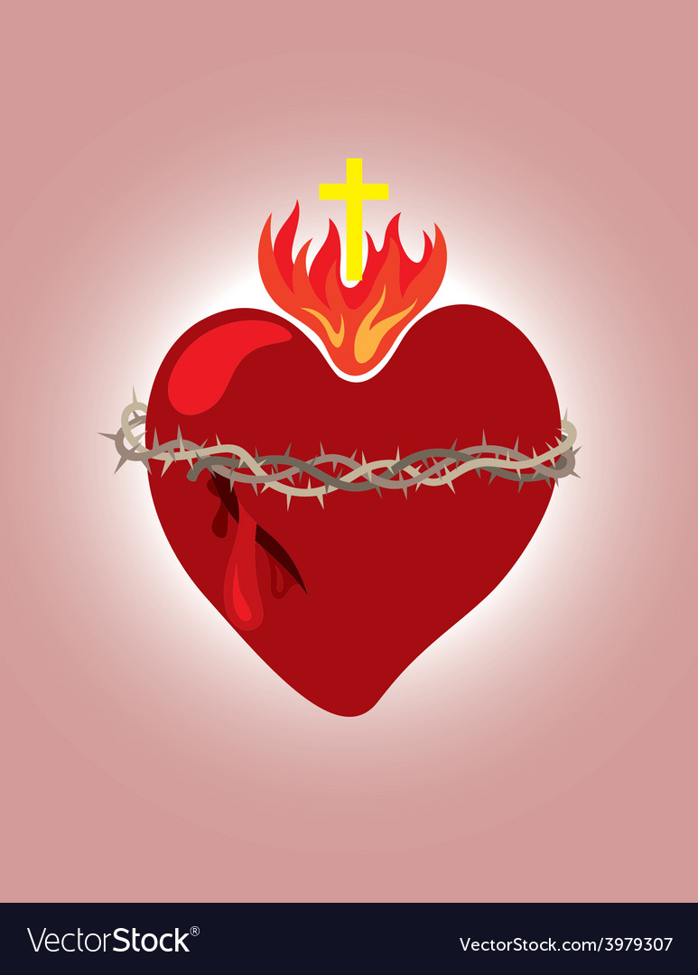 Secret heart christian icon and symbol vector | Price: 1 Credit (USD $1)