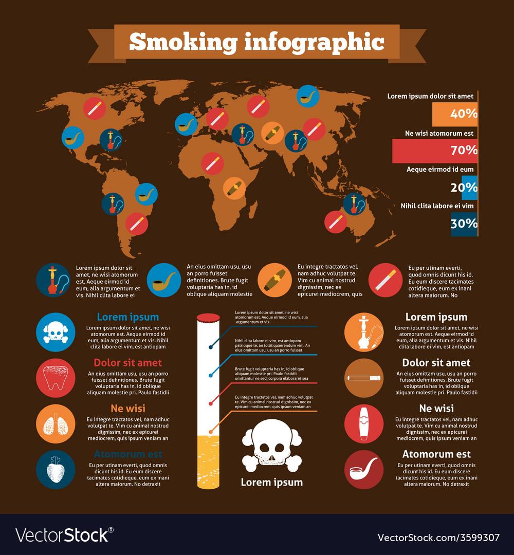 Smoking infographics set vector | Price: 1 Credit (USD $1)