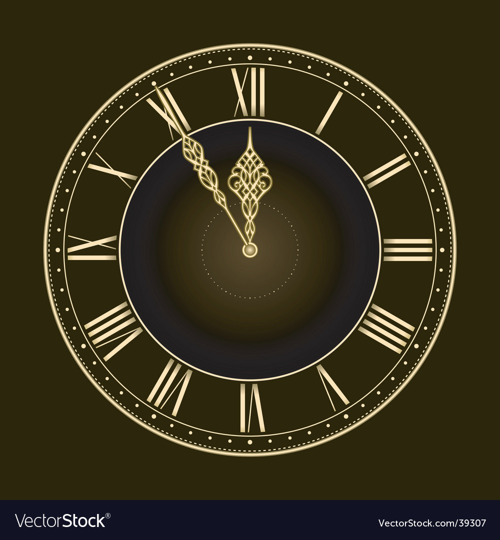 Stylish clock vector | Price: 1 Credit (USD $1)