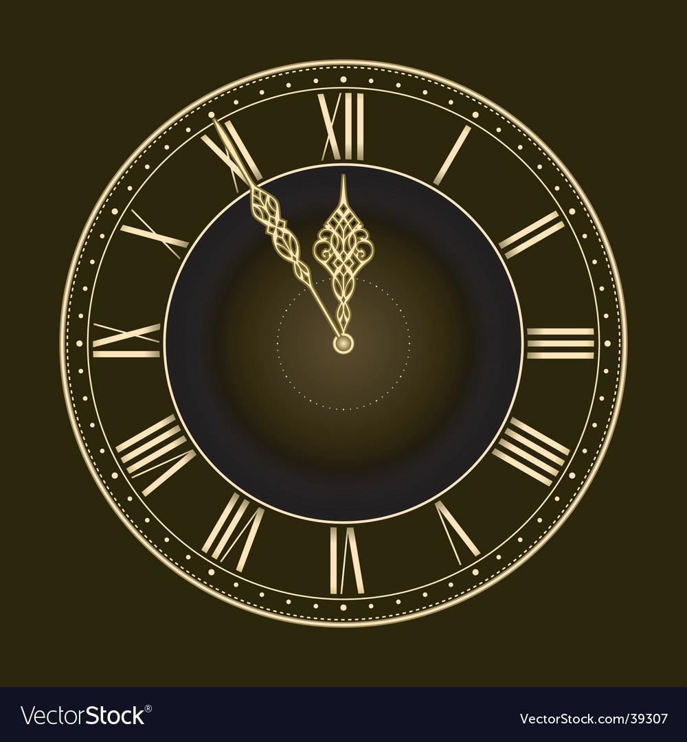 Stylish clock vector | Price: 1 Credit (USD $1)