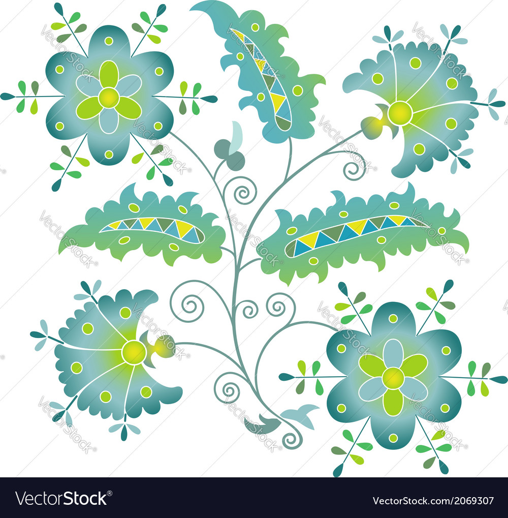 Summer flower vector | Price: 1 Credit (USD $1)