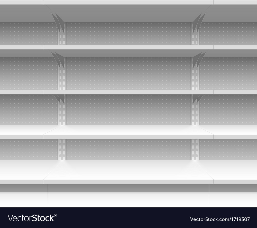 Supermarket shelves vector | Price: 1 Credit (USD $1)