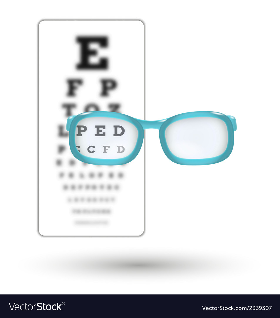 Unsharp snellen chart and sharp letter with vector | Price: 1 Credit (USD $1)