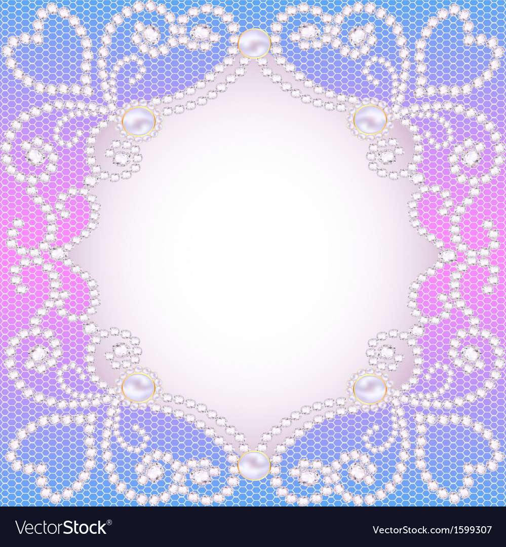 Wedding background with frame ornament vector   Price: 1 Credit (USD $1)