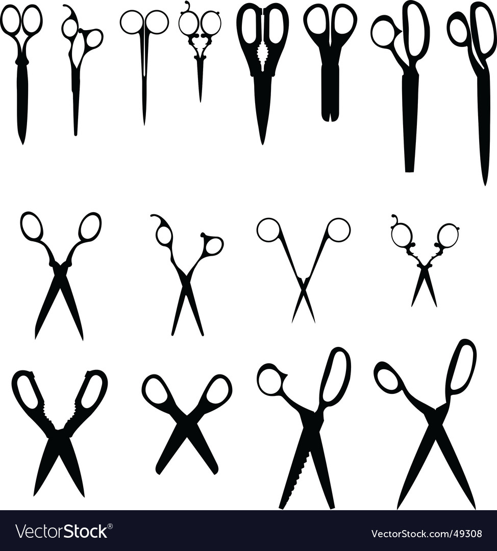 8 scissors vector | Price: 1 Credit (USD $1)