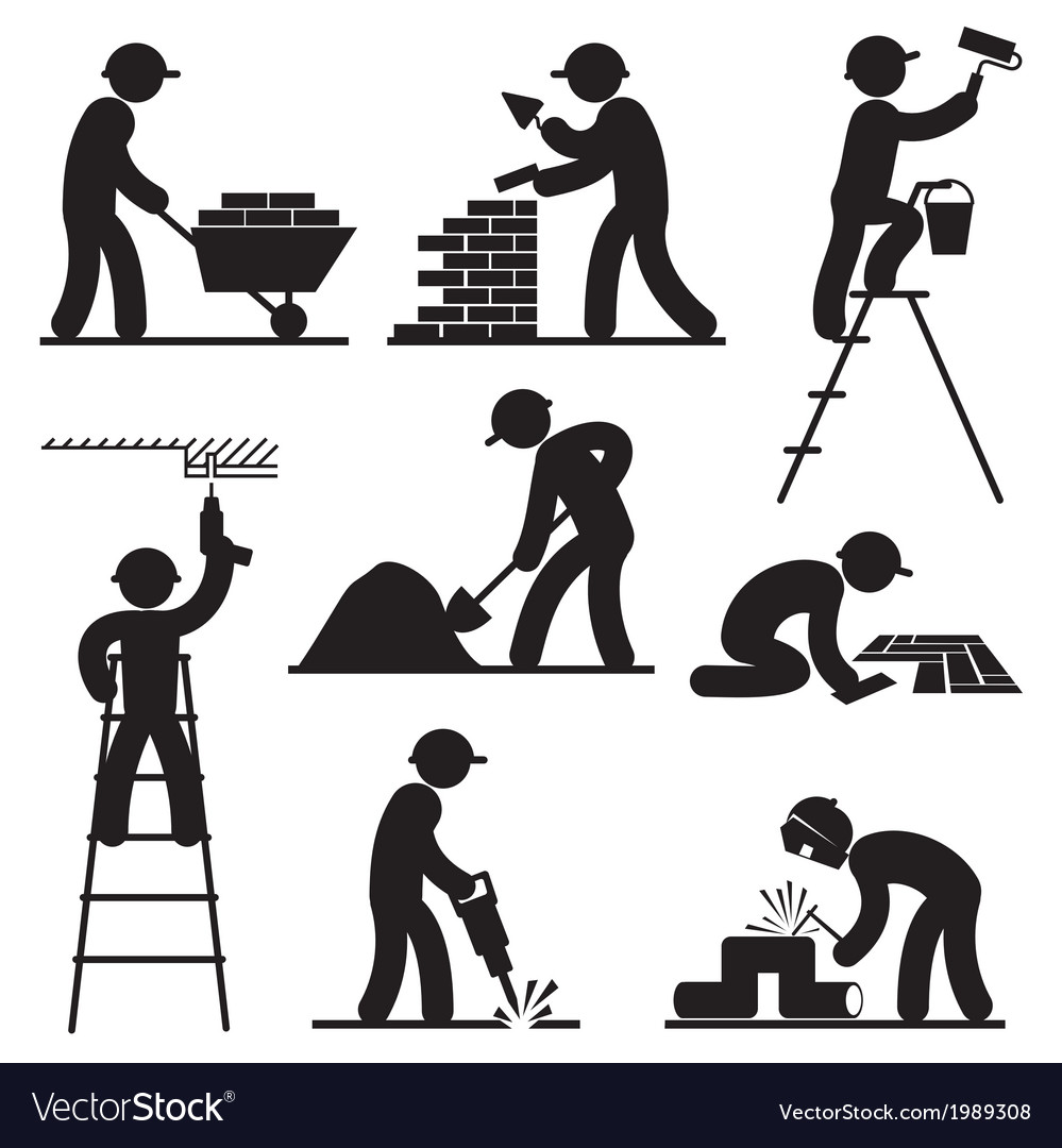 Builder people vector | Price: 1 Credit (USD $1)