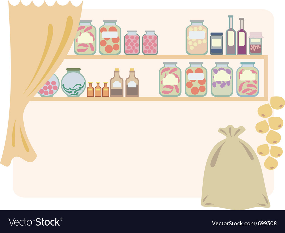 Home pantry for food vector | Price: 1 Credit (USD $1)