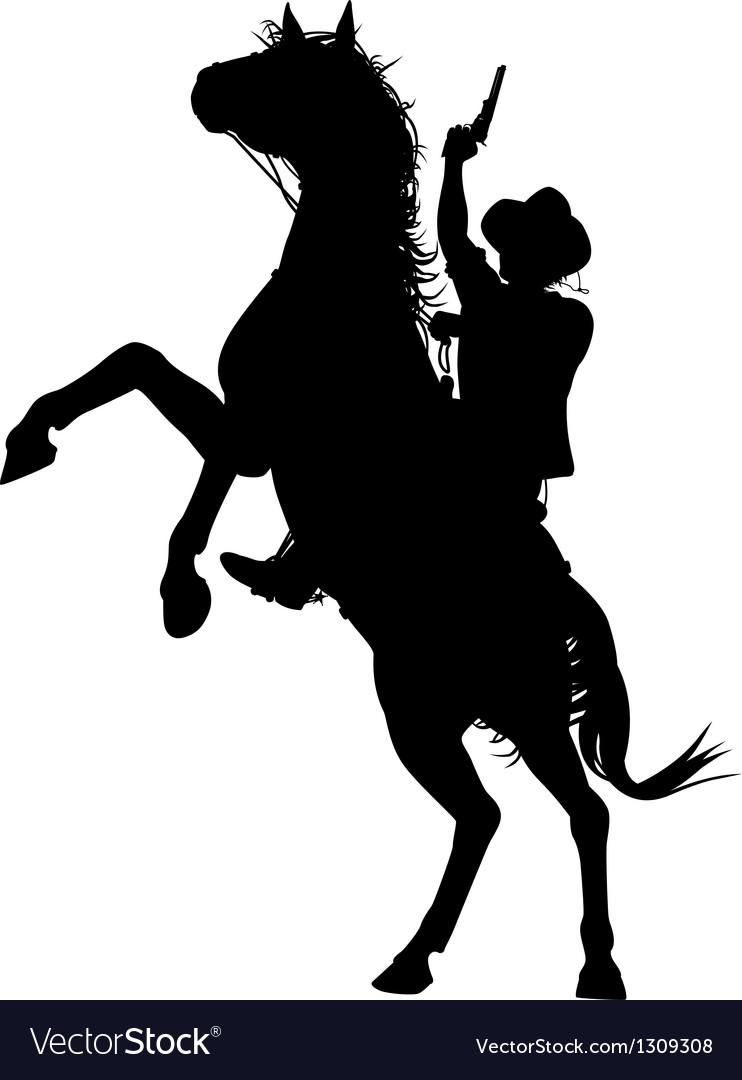 Horseback cowboy vector | Price: 1 Credit (USD $1)