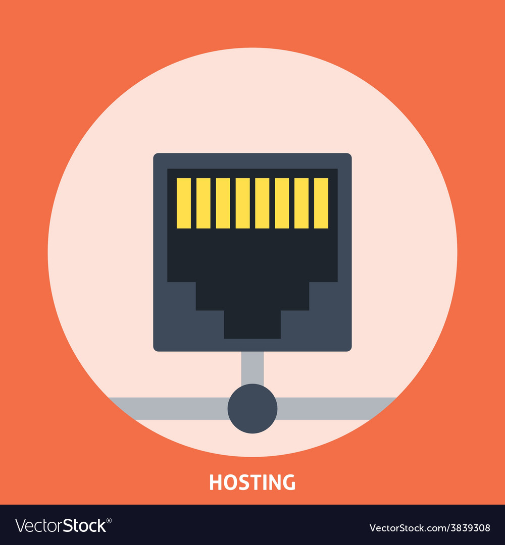 Hosting icon vector | Price: 1 Credit (USD $1)