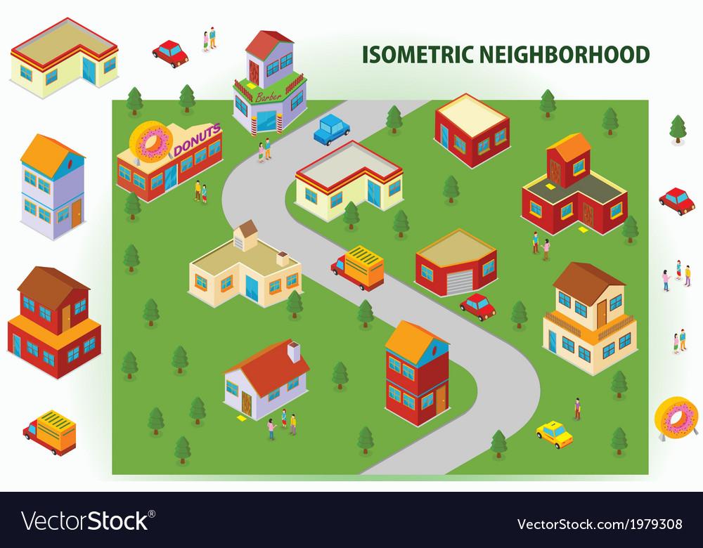 Isometric neighborhood vector | Price: 1 Credit (USD $1)
